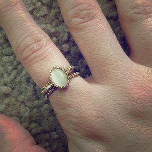 3 stackable ring set in gold